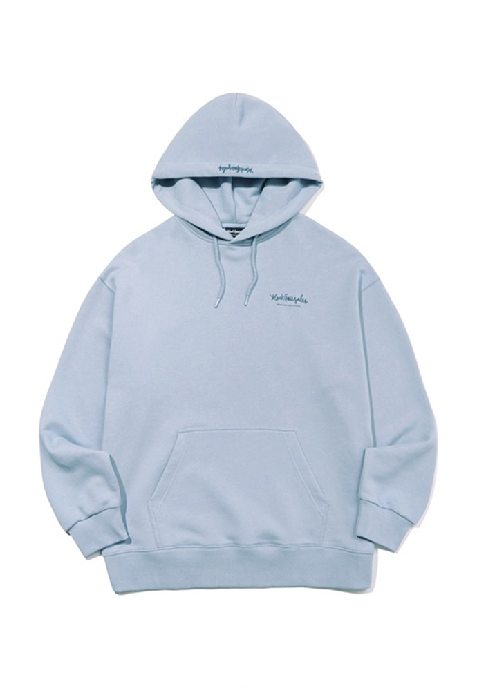 Markgonzales마크곤잘레스 M/G SMALL SIGN LOGO HOODIE LIGHT BLUE 20SS