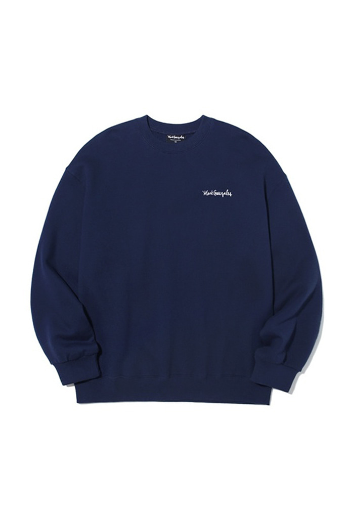Markgonzales마크곤잘레스 M/G SMALL SIGN LOGO CREWNECK NAVY 20SS