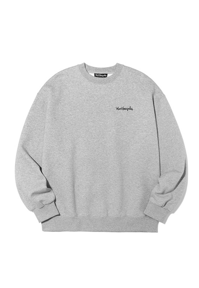 Markgonzales마크곤잘레스 M/G SMALL SIGN LOGO CREWNECK GRAY 20SS