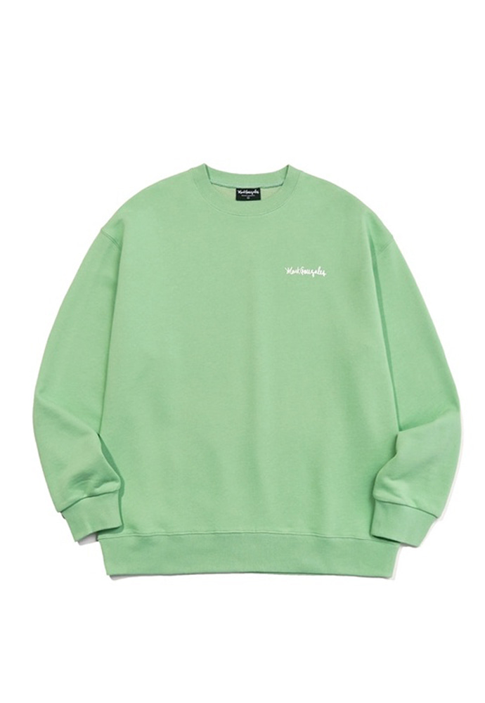 Markgonzales마크곤잘레스 M/G SMALL SIGN LOGO CREWNECK SAGE GREEN 20SS