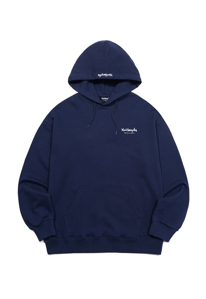 Markgonzales마크곤잘레스 M/G SMALL SIGN LOGO HOODIE NAVY 20SS