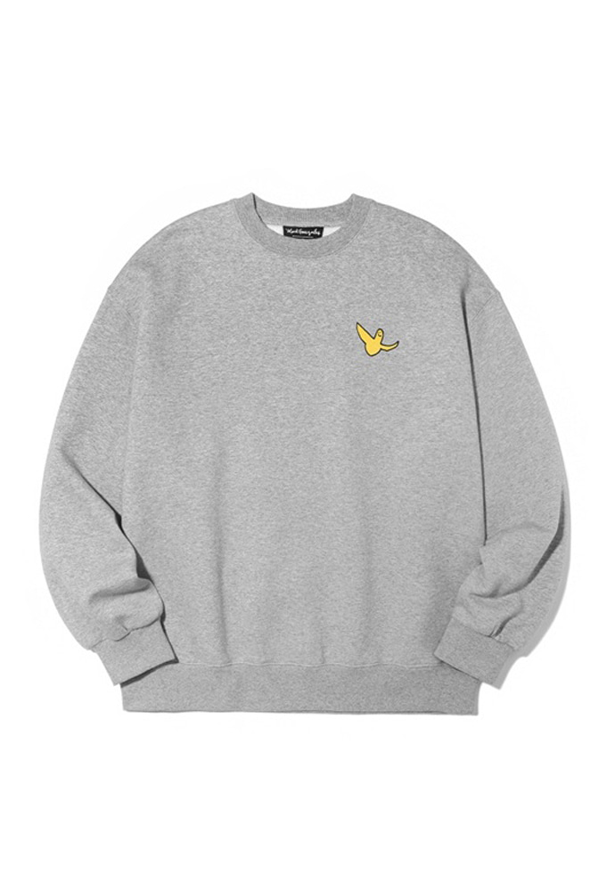 Markgonzales마크곤잘레스 M/G SMALL ANGEL CREWNECK GRAY