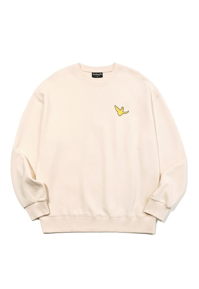 Markgonzales마크곤잘레스 M/G SMALL ANGEL CREWNECK IVORY