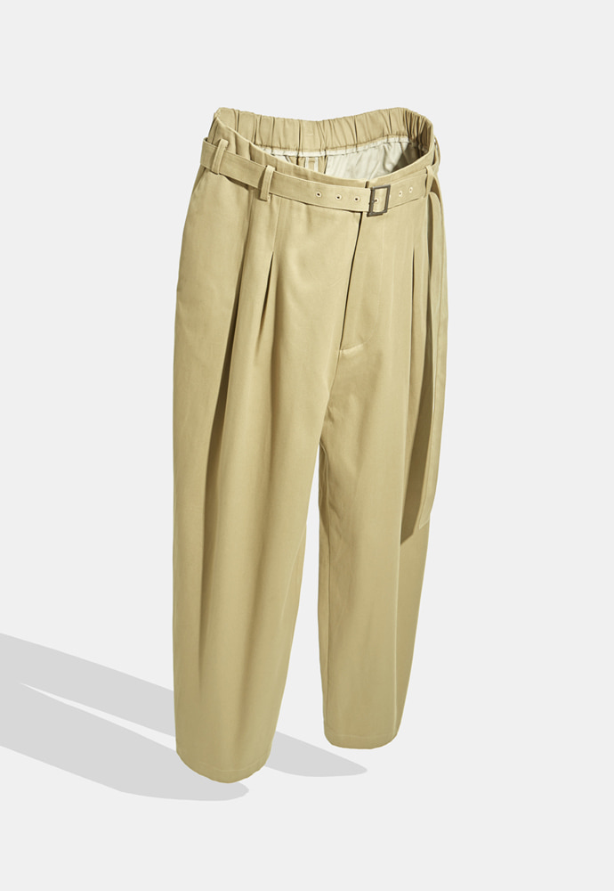 YOUTH유스랩 Belted Loosed Pants Beige