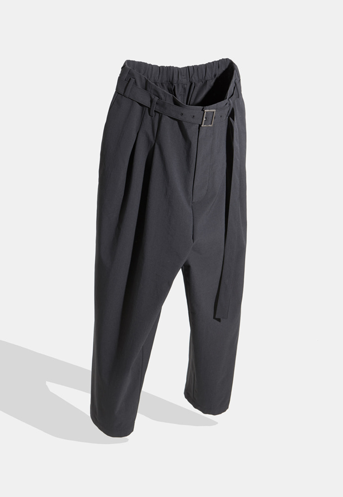 YOUTH유스랩 Belted Loosed Pants Black