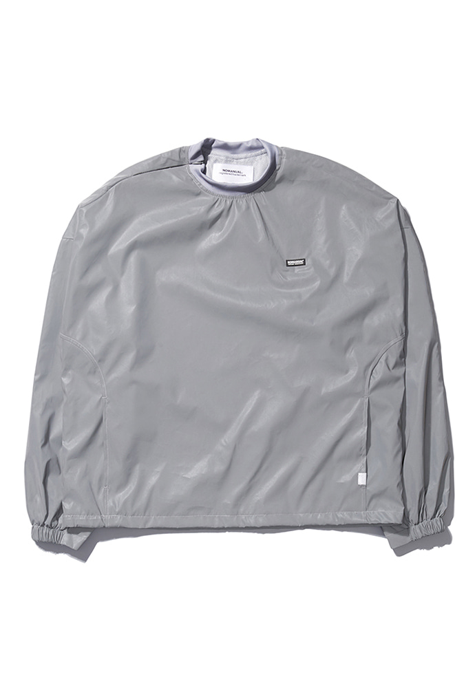 NOMANUAL노메뉴얼 LOGO PATCHED WARM-UP TOP - REFLECTIVE