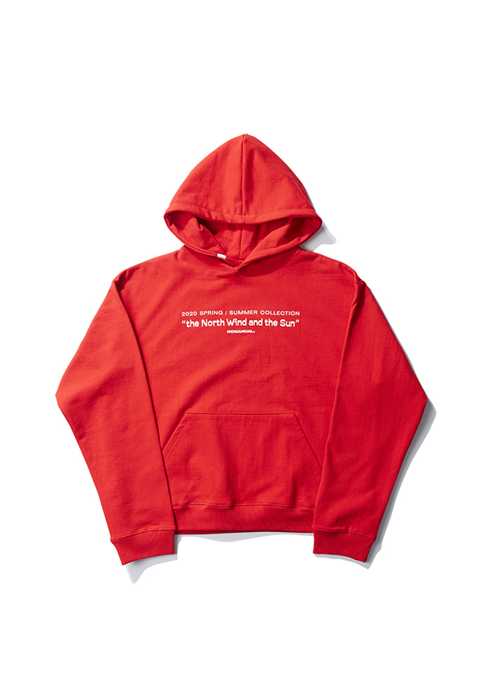 NOMANUAL노메뉴얼 TITLE HOODIE - RED