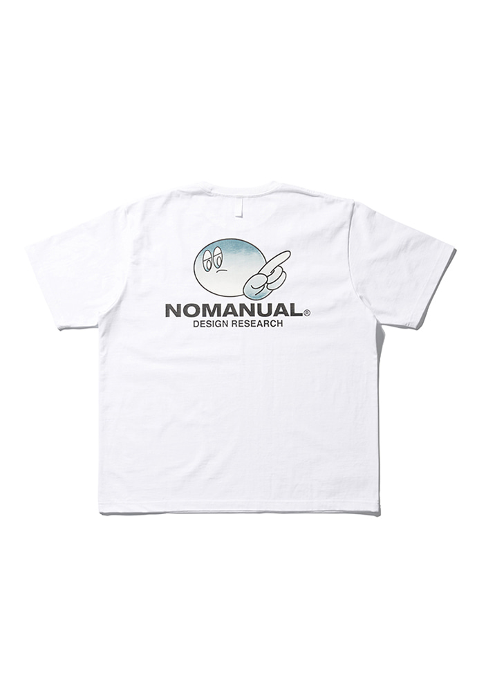 NOMANUAL노메뉴얼 (3월 6일 발송) LOGO PATCHED T-SHIRT - WHITE
