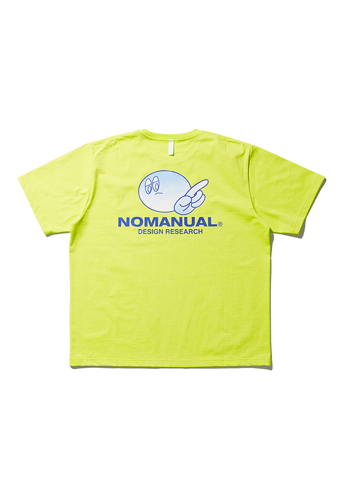 NOMANUAL노메뉴얼 (3월 6일 발송) LOGO PATCHED T-SHIRT - NEON GREEN