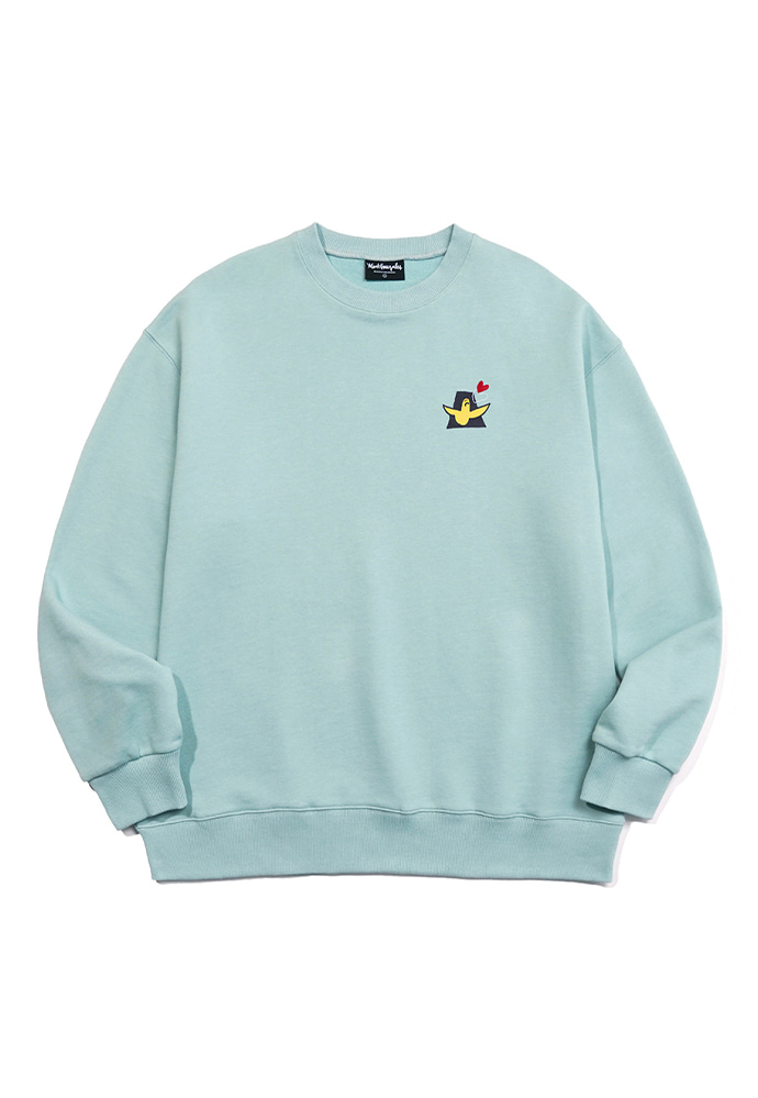 Markgonzales마크곤잘레스 M/G LOVE ANGEL CREWNECK VINTAGE GREEN
