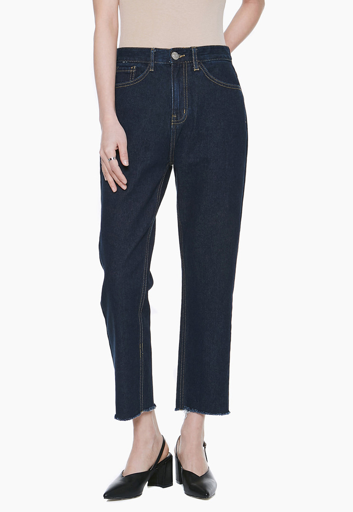 L'OEIL로에일 LW016 BASIC STRAIGHT DENIM_DARK BLUE