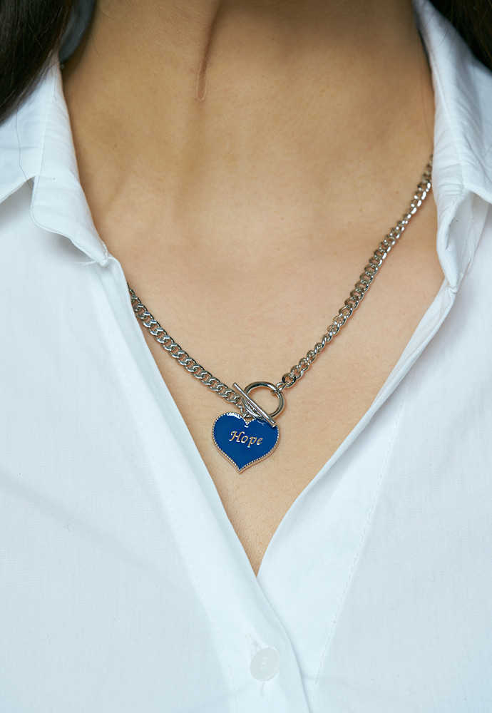 Hope heart tokeul necklace