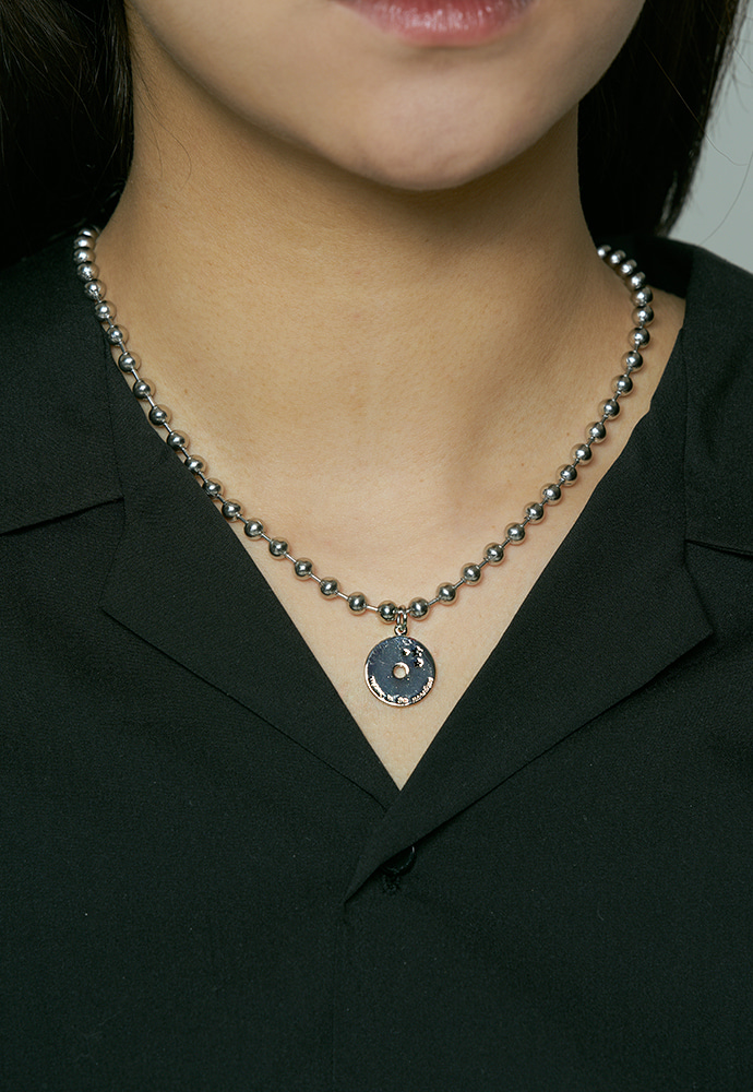 Midnight ball chain necklace