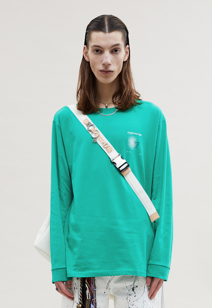 Anderssonbell앤더슨벨 UNISEX NEW POSTER LS TEE atb477u LIGHT GREEN