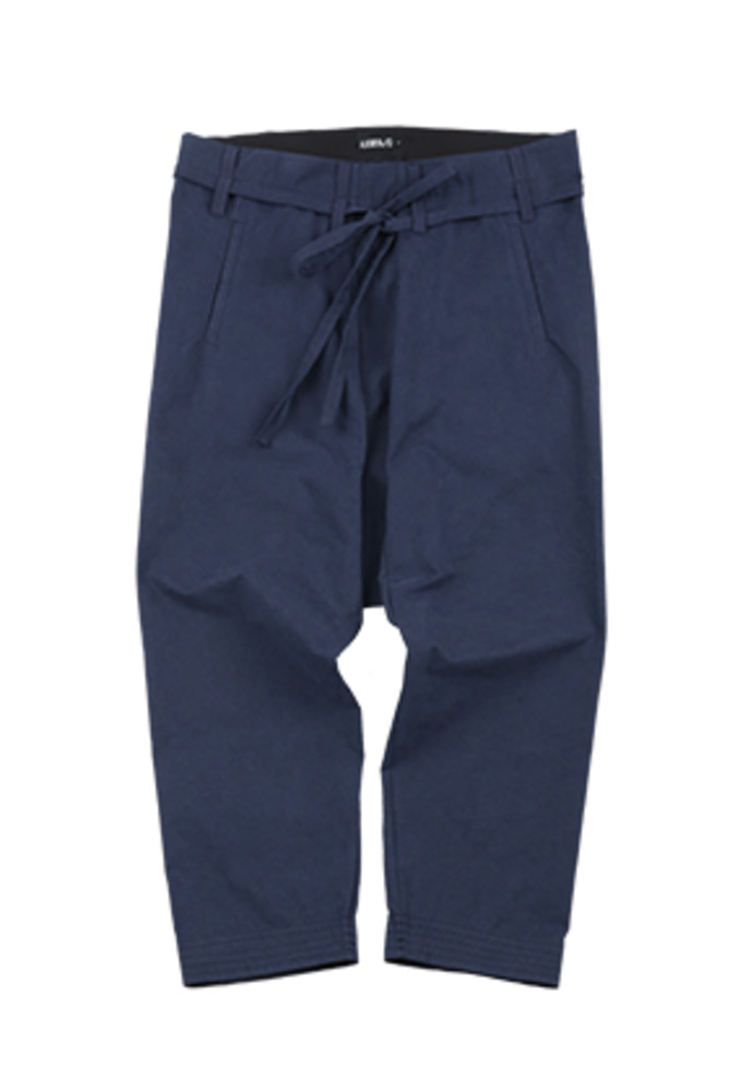 AJO BY AJO아조바이아조 Washed Cotton Baggy Pants [Navy]