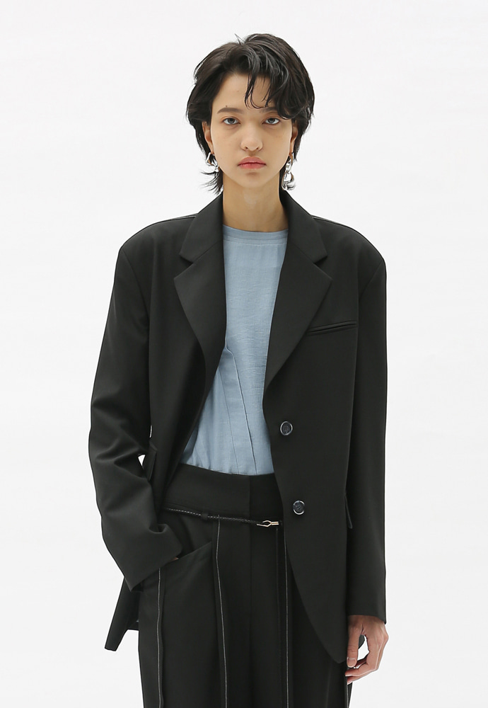 Anderssonbell앤더슨벨 KATINA CINCHED WAIST WOOL JACKET awa280w(Black)(20SS)