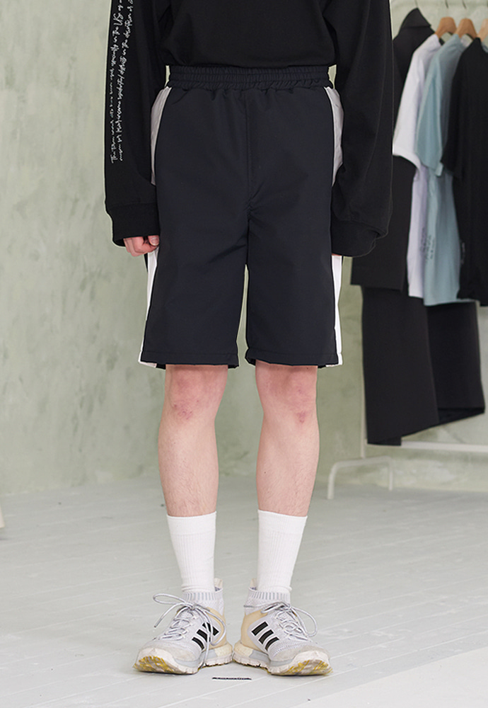 INNER CITY AUDIO이너시티오디오 RUNNING TRACK SHORTS BLACK