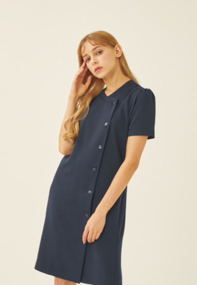 Tactfulkiosk탁풀키오스크 SHORT SLEEVE DRESS-NV