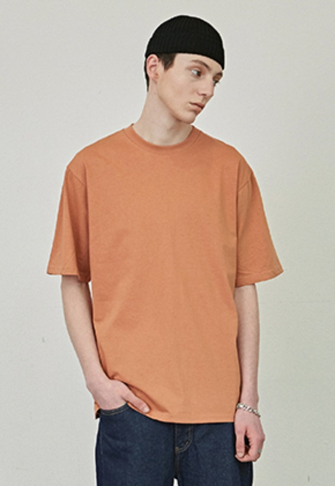 COUCOU코우코우 [COUCOU] SIGNATURE HALF TEE_ORANGE
