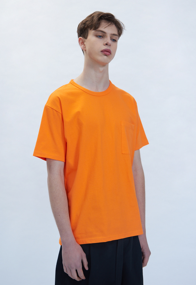 OURSCOPE아워스코프 Colorful Basic T-Shirts (Orange)