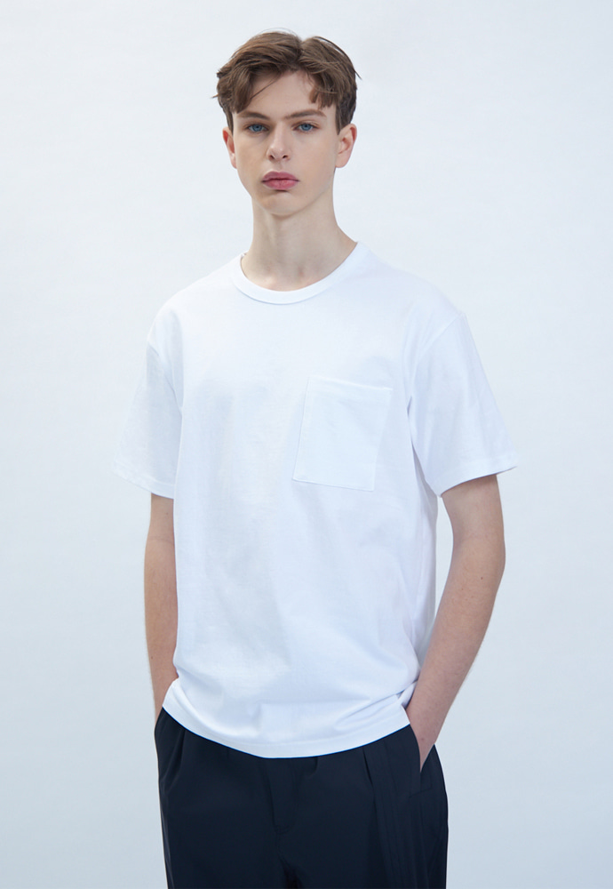 OURSCOPE아워스코프 Colorful Basic T-Shirts (White)