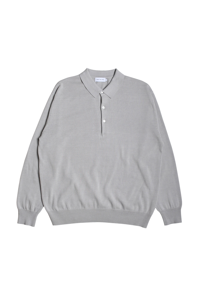 Steady Every Wear스테디에브리웨어 Cotton Collar Knit (Light Grey)