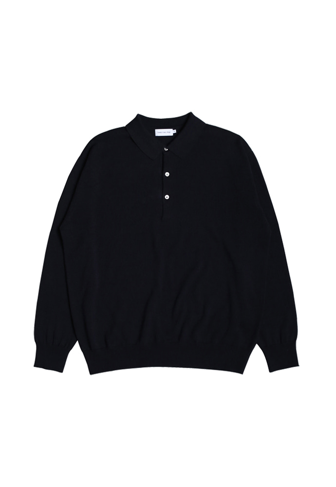 Steady Every Wear스테디에브리웨어 Cotton Collar Knit (Dark Navy)