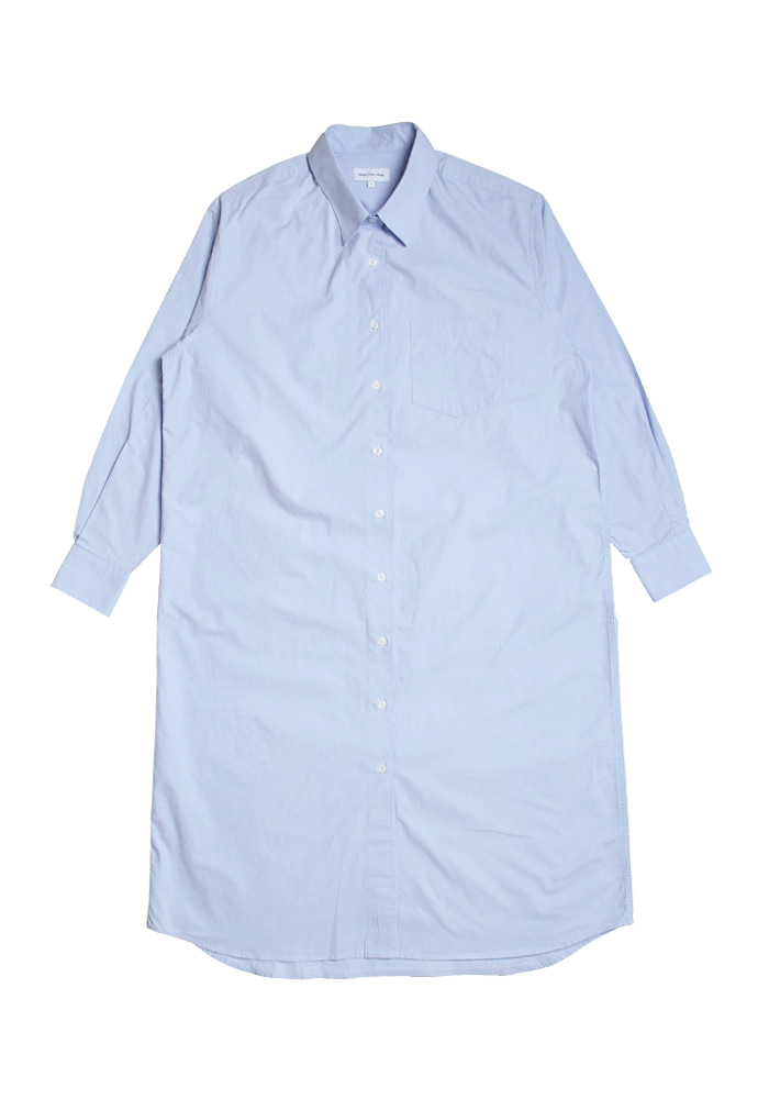 Steady Every Wear스테디에브리웨어 Relaxed Daily Shirts One-Piece (Sky Blue)