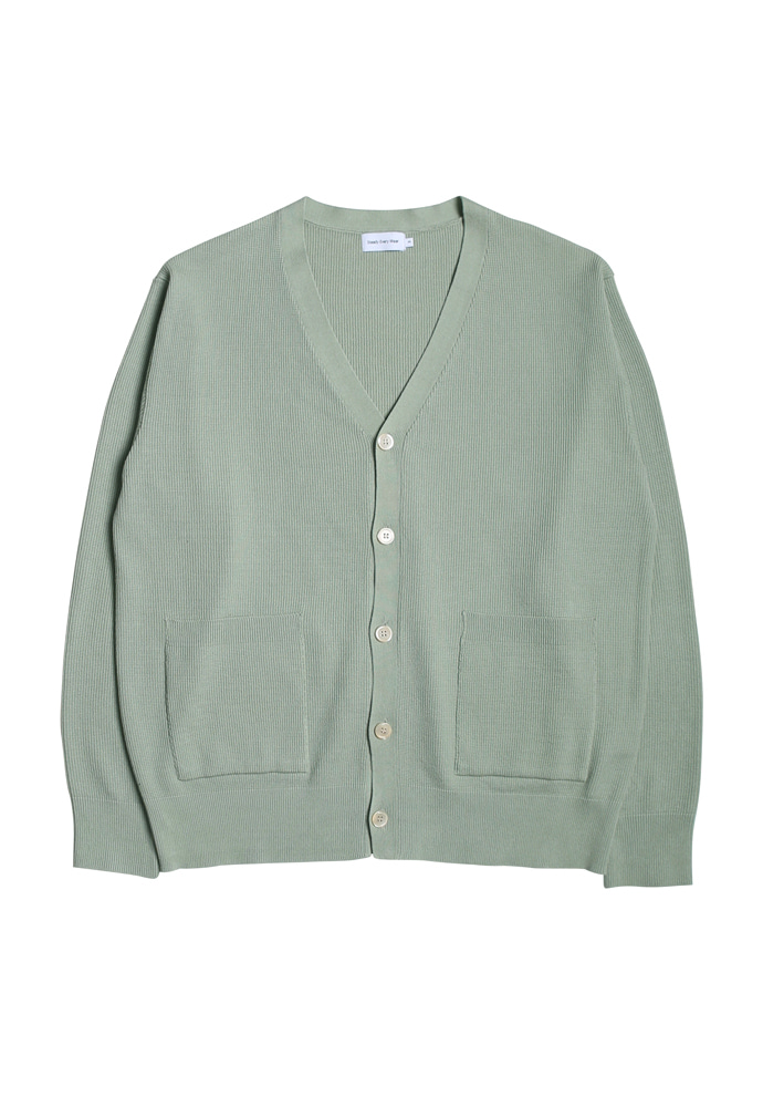 Steady Every Wear스테디에브리웨어 Milano Rib Knit Cardigan (Light Olive)