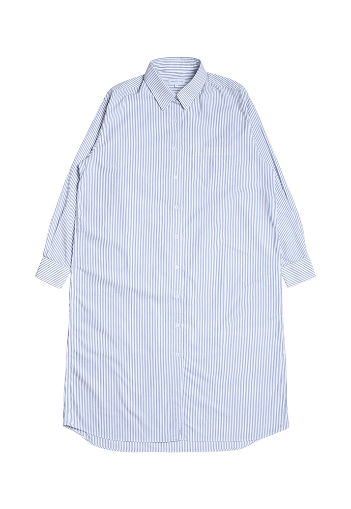 Steady Every Wear스테디에브리웨어 Relaxed Daily Shirts One-Piece (Blue Stripes)