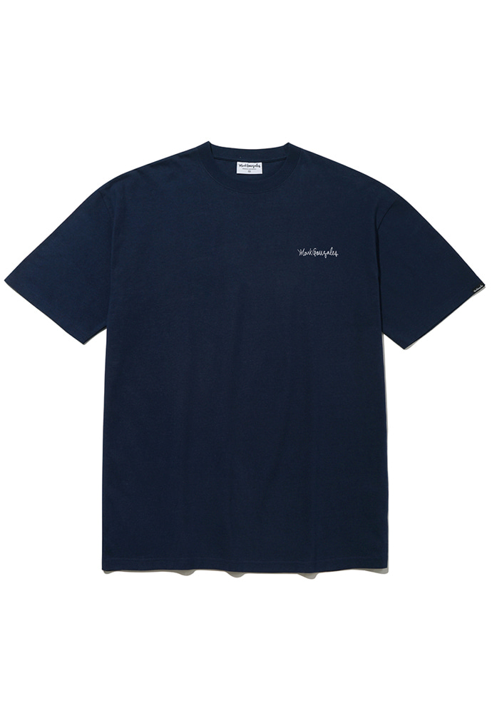 Markgonzales마크곤잘레스 M/G SMALL SIGN LOGO T-SHIRTS NAVY 20SS