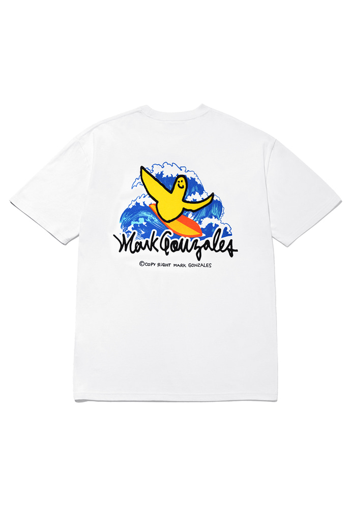 Markgonzales마크곤잘레스 M/G SURFING ANGEL T-SHIRTS WHITE