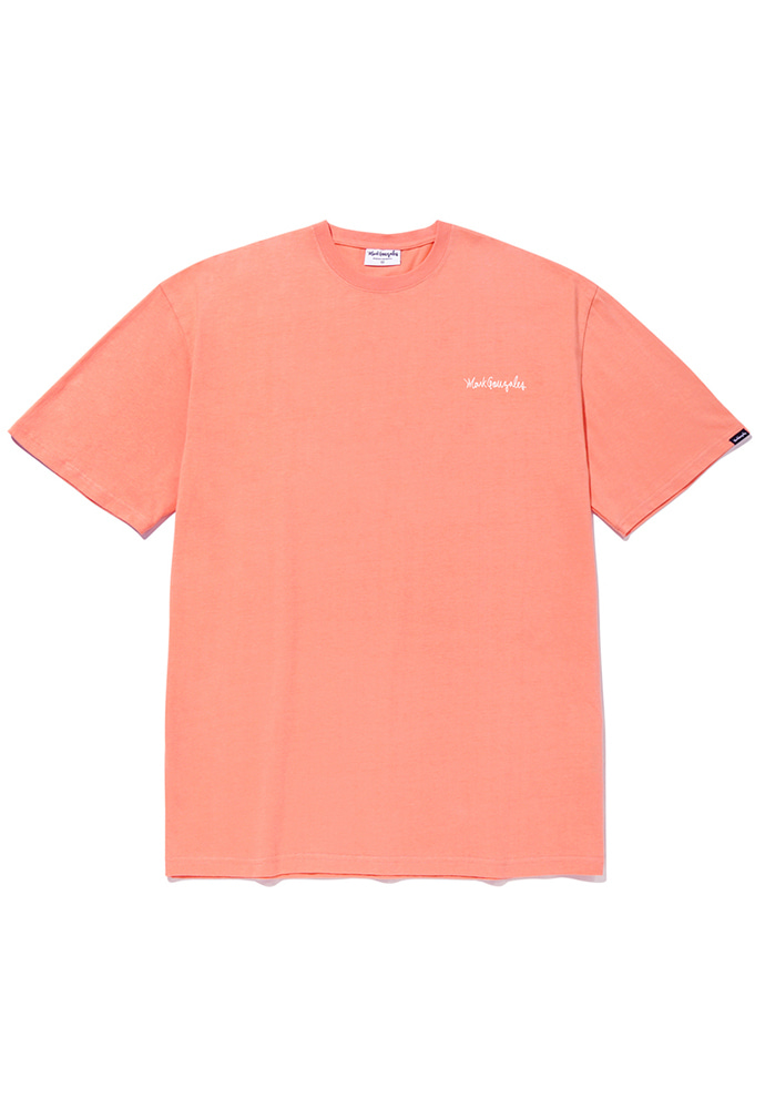 Markgonzales마크곤잘레스 M/G SMALL SIGN LOGO T-SHIRTS PEACH