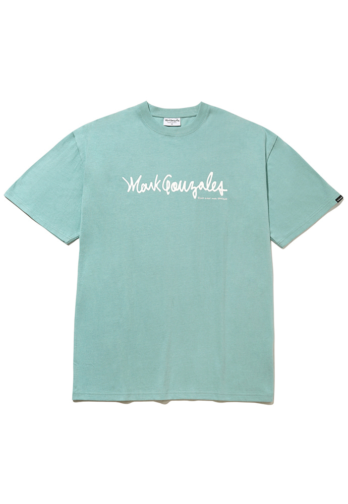 Markgonzales마크곤잘레스 M/G SIGN LOGO T-SHIRTS VINTAGE GREEN