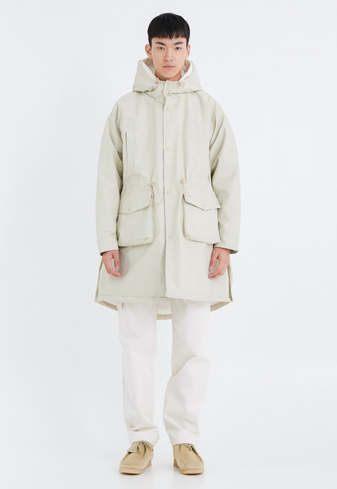 OURSCOPE아워스코프 Comfort Fleece Parka (Cream)