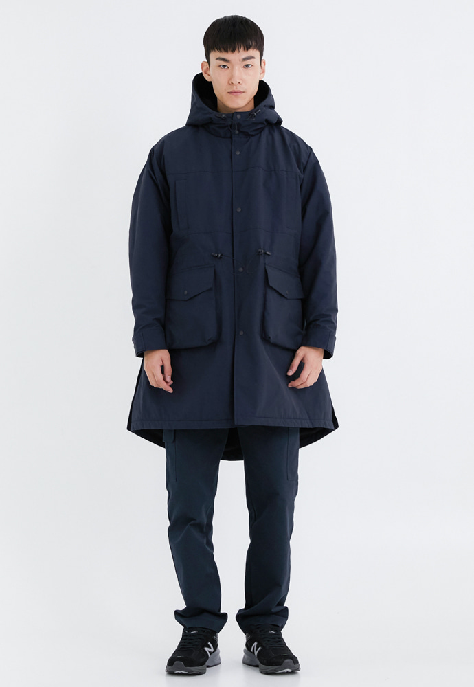 OURSCOPE아워스코프 Comfort Fleece Parka (Navy)