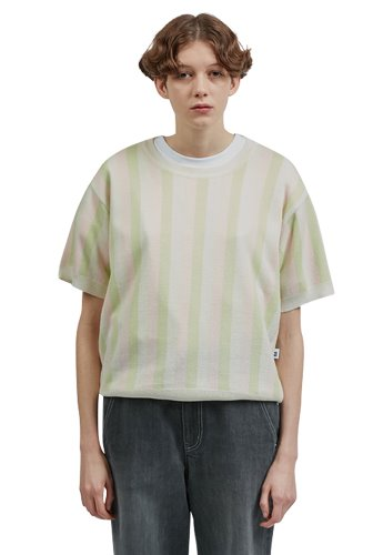 Fine the파인더 Stripe Knit Sweater_Light Green