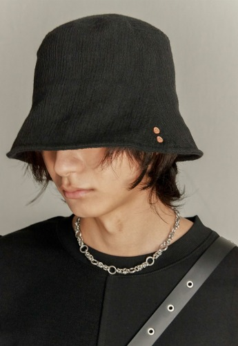 Anderssonbell앤더슨벨 UNISEX ETHNIC BUCKET HAT aaa246u(BLACK)