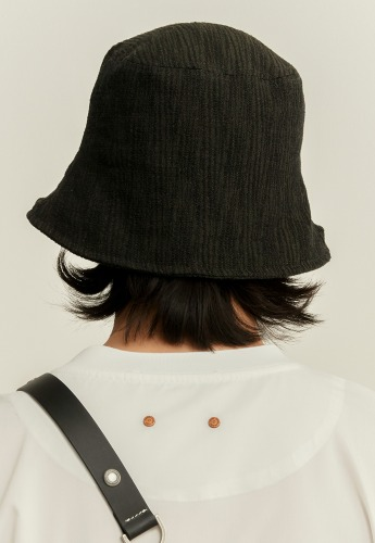 Anderssonbell앤더슨벨 UNISEX ETHNIC BUCKET HAT aaa246u(KHAKI/BLACK)