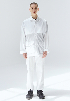 COUCOU코우코우 [COUCOU] CAPE POCKET SHIRT SET UP_IVORY