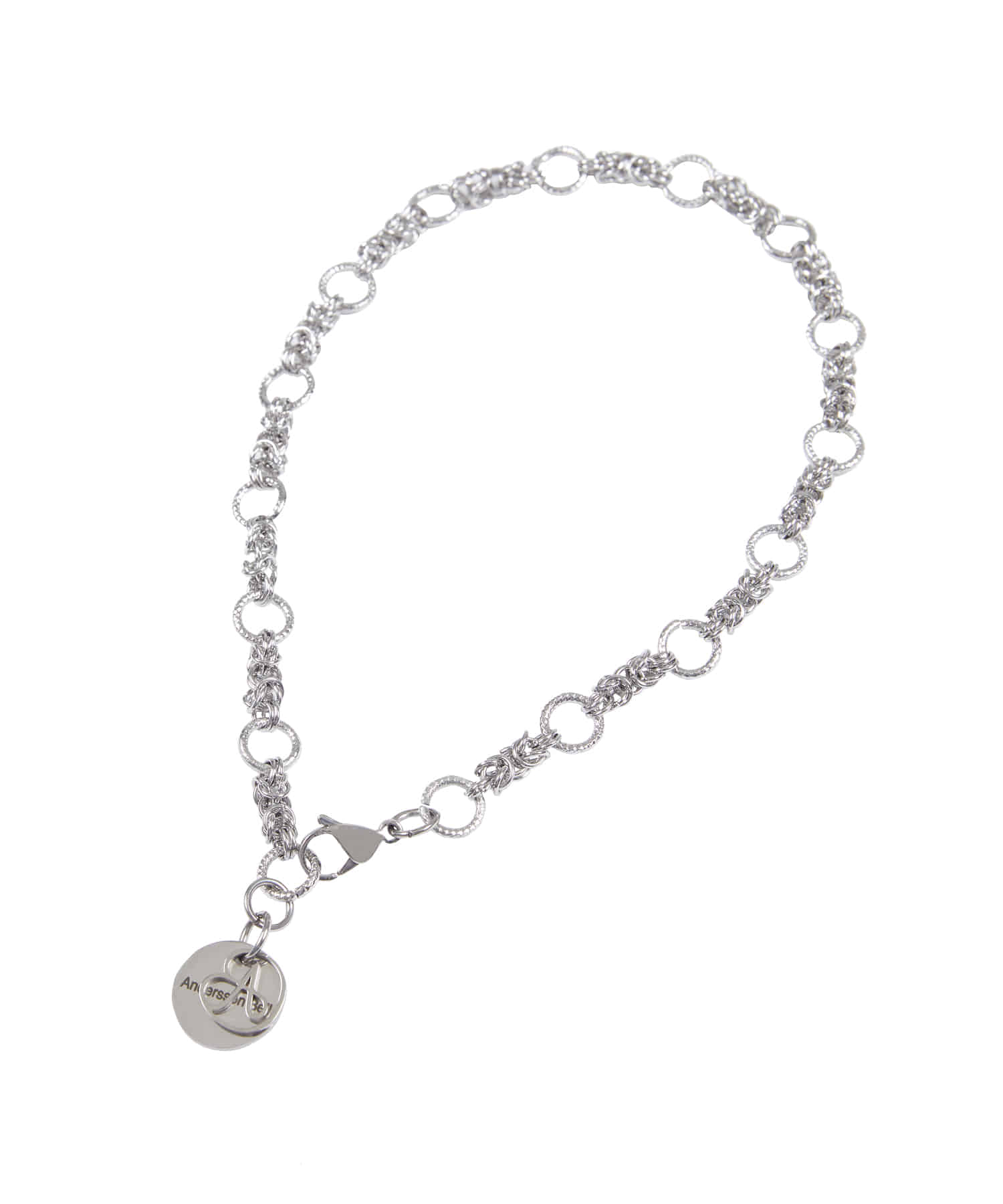Anderssonbell앤더슨벨 UNISEX DOUBLE RING CHAIN NECKLACE aaa253u(SILVER)