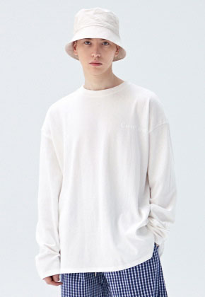 COUCOU코우코우 [COUCOU] LOGO SLIT LONG SLEEVE_IVORY