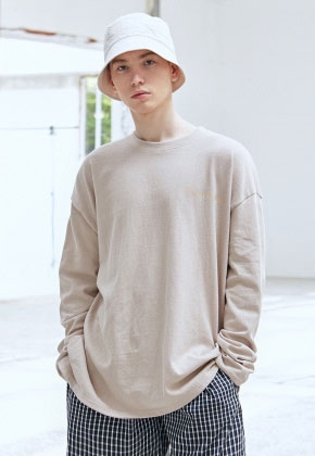 COUCOU코우코우 [COUCOU] LOGO SLIT LONG SLEEVE_BEIGE