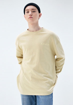 COUCOU코우코우 [COUCOU] LOGO SLIT LONG SLEEVE_MUSTARD
