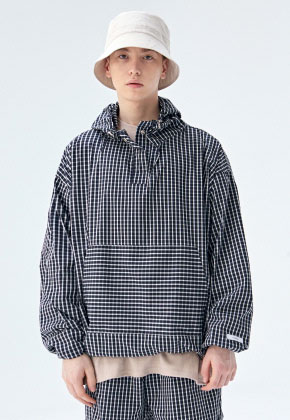 COUCOU코우코우 [COUCOU] TRAINING TRACK ANORAK_BLACK CHECK