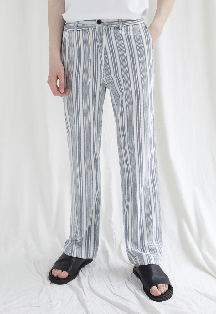 Garment lable가먼트레이블 GL Pajamas Linen Pants-Blue