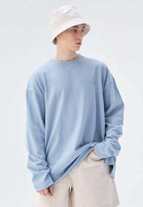 COUCOU코우코우 [COUCOU] LOGO SLIT LONG SLEEVE_SKY BLUE