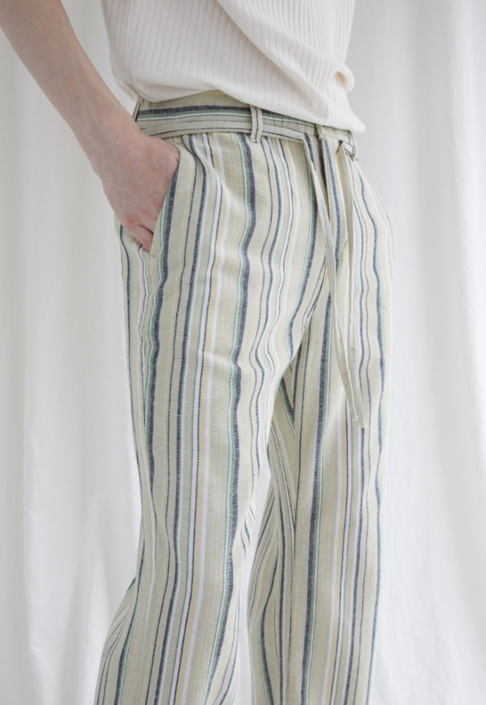 Garment lable가먼트레이블 GL Pajamas Linen Pants-Yellow