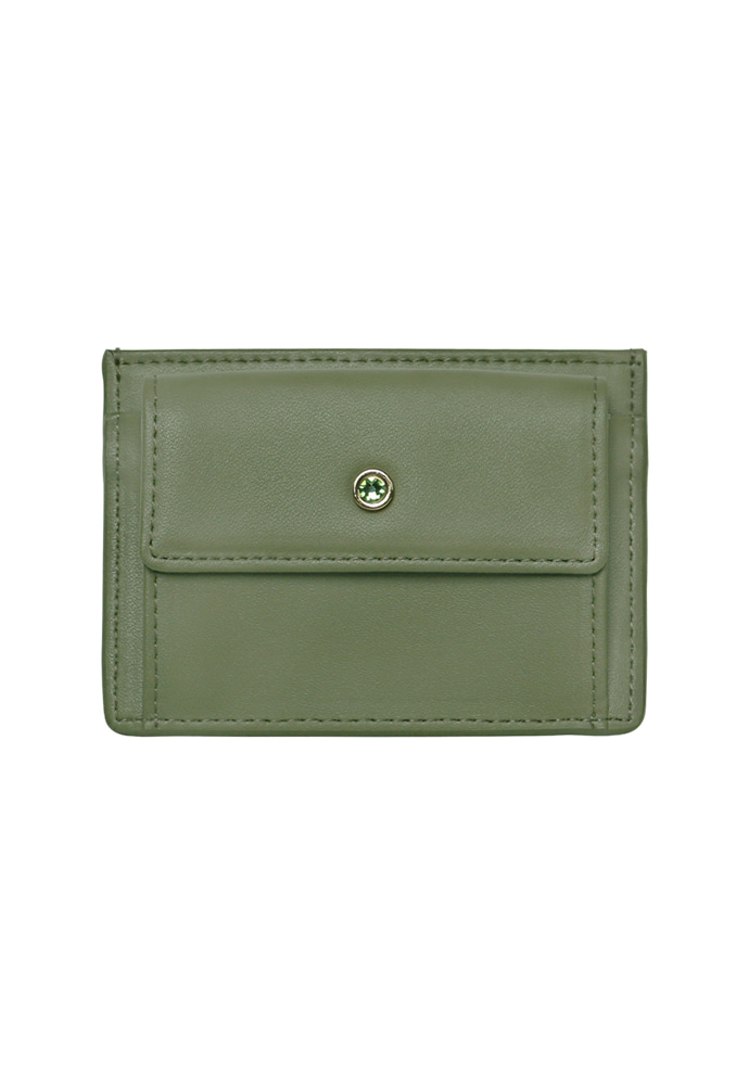 D.LAB디랩 (탄생석지갑) Blumen Pocket Card Wallet - Green