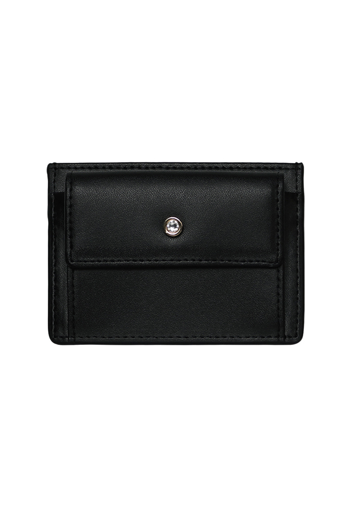 D.LAB디랩 (탄생석지갑) Blumen Pocket Card Wallet - Black